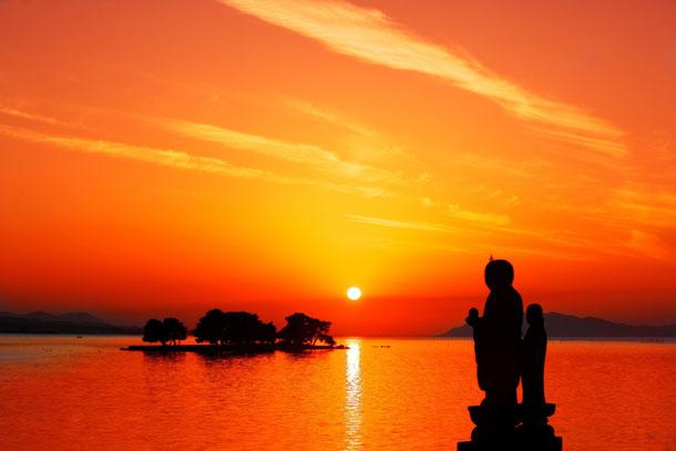 夕日を拝むコツ。松江市