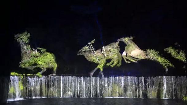 軽井沢に「日本夜景遺産」。2015年注目の「白糸の滝」ライトアップイベント