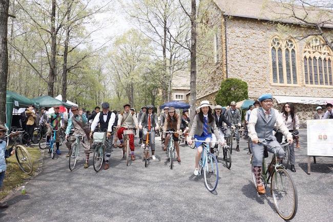 英国式に街をかけまわる自転車イベント「ツイードラン」が栃木県で人気