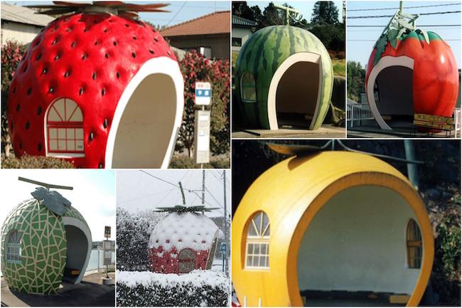 可愛すぎる!長崎県に実在する「おとぎ話の国のフルーツバス停」
