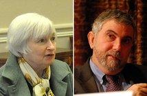 From Wikimedia Commons: Janet Yellen   Paul Krugman