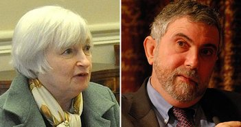 From Wikimedia Commons: Janet Yellen | Paul Krugman