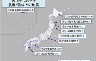 奇跡の的中率に日本列島が震撼。「MEGA地震」が予測した昨年の地震一覧