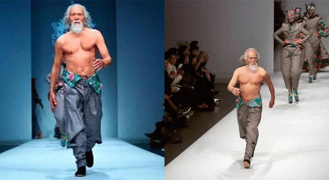 80歳の中国人おじいちゃんモデルの鍛えられた肉体が話題に!